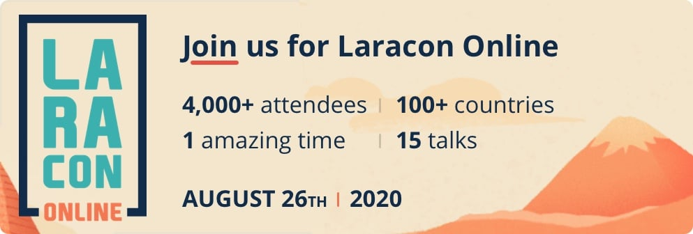 Laracon Online - August 26th 2020